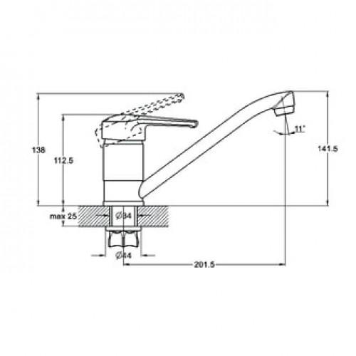 PED4-A180 Хром